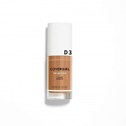 COVERGIRL truBlend Liquid Foundation Makeup Honey Beige D3, 1 oz (packaging may vary)