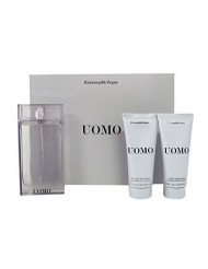 Ermenegildo Zegna Uomo 3 Piece Gift Set for Men (Eau de Toilette Spray Plus Hair Body Wash Plus After Shave)