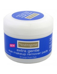 Neutrogena Eye Extra Gentle Makeup Remover Pads 30'S Jar (3 Pack)