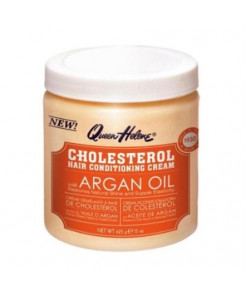 QUEEN HELENE Cholesterol Hair Conditioning Creme Argan Oil, 15 oz (Pack of 3)