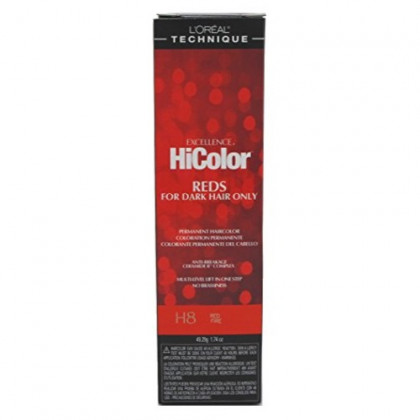 L'Oreal Excellence HiColor Red Fire H8, 1.74 oz (Pack of 3)