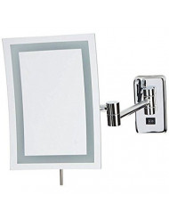 "Jerdon JRT710CLD Wall Mount Rectangular Direct Wire Makeup Mirror, Chrome Finish, 6.5"" x 9"""