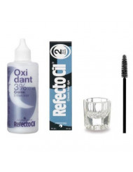 Refectocil KIT - Cream Hair Dye + Creme Oxidant 3% 3.4oz + Mixing Dish + Mascara Brush (Blue Black)