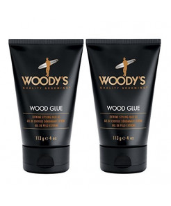 Woody's Wood Glue Extreme Styling Gel for Men, 4 Ounce (Pack of 2)