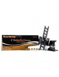 """Marianna Black and White Butterfly Clamps - 3"""""""