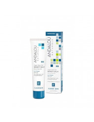 Andalou Naturals CLEAR SKIN Argan Stem Cell BB Benefit Balm, Un-Tinted SPF 30, 2 Ounce Tube