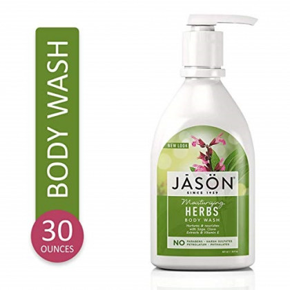 Jason Natural Body Wash and Shower Gel, Moisturizing Herbs 30 oz