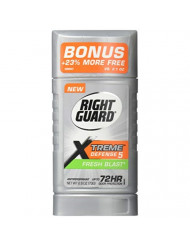 Right Guard Xtreme Defense 5 Anti-Perspirant & Deodorant, Fresh Blast 2.6 Oz (Packs of 6)