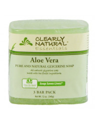 Clearly Natural Glycerine Bar Soap, Aloe Vera, 12 oz, 3 Count