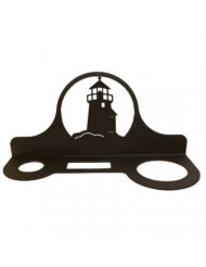 Village Wrought Iron Decorative Lighthouse Floating Hair Dryer Rack
