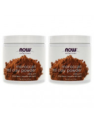 Now Foods Red Clay Powder Moroccan - 6 oz. 2 Pack