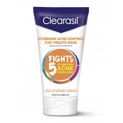 Clearasil Stubborn Acne Control One Minute Mask, 6.78 oz.