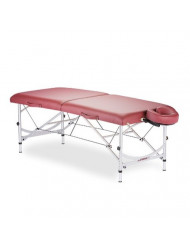 STRONGLITE Portable Massage Table Package VERSALITE - Professional, Lightweight Aluminum, Incl. Deluxe Adjustable Headrest & FacePillow, Burgundy