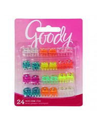 Goody Girls Classics Mini Claw Clips, 24 Count