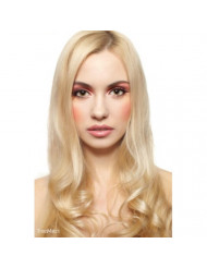 """TRESSMATCH Thick to Ends 20""""-22"""" Remy (Remi) Human Hair Clip in Extensions Bleach/Light Blonde (Color #613) 10 Pieces Thick to Ends Full Head Luxury [Set Weight:5.3oz/150grams)"""