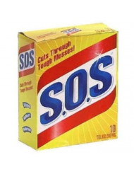 S.O.S 98014 Steel Wool Soap Pad (10 Count)