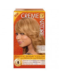 Creme Of Nature Exotic Shine Color With Argan Oil, Light Golden Brown 9.23, 1 Ea, 1count
