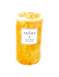 Relaxing Aromatherapy One 2.75 X 5 Inch Pillar Aromatherapy Candle. Combines The Essential Oils Of Lavender And Tangerine To Create A Fragrance That Reduces Stress. Burns Approx. 75 Hrs