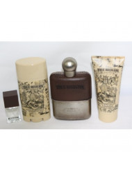 TRUE RELIGION 3.4 oz 4PC GIFT SET 3.3 oz MEN toilette edt COLOGNE PERFUME P22