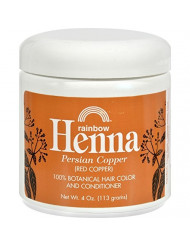 Rainbow Research Henna Hair Color and Conditioner Persian Copper, 4 oz, Red