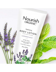 Nourish Organic Hydrating & Smoothing Body Lotion Lavender Mint, 8 Oz