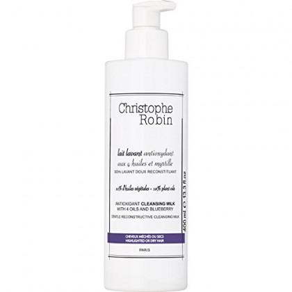 Christophe Robin Antioxidant Cleansing Milk with 4 Oils and Blueberry - 400 ml