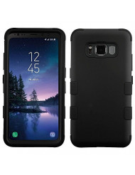 MyBat Samsung Galaxy S8 Active Rubberized Black/Black TUFF Hybrid Phone Protector Cover