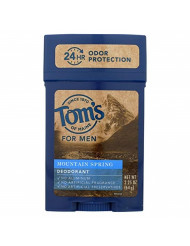 Toms of Maine Mountain Spring PG Free Wide Deodorant Stick, 2.25 Ounce - 6 per case.