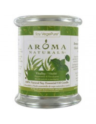 Aroma Naturals 100% Natural Soy Essential Oil Candle, Vitality, Peppermint & Eucalyptus, 8.8 oz (260 g)