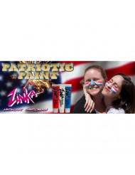 Zinka Colored Sunblock - 4th of July face paint Bundle - Red/White/Blue