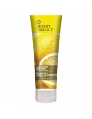 Desert Essence Lemon Tea Tree Conditioner - 8 Fl Ounce - Soft & Silky - Soothes Scalp - Strengthens Hair - Nourishing & Revitalized - Vitamin B5 - Shea