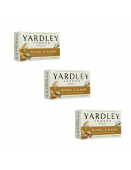 Yardley Oatmeal and Almond Bar Soap, 4.25 Ounce, Set of 3