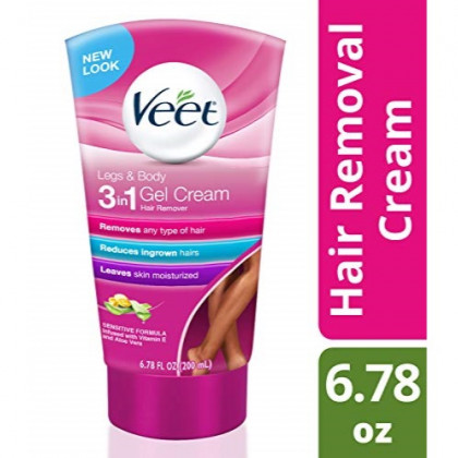 Veet Botanic Inspirations Gel Cream - Legs & Body, 6.78 oz.