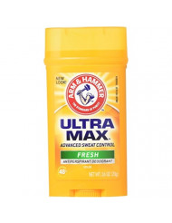 Arm & Hammer Ultra Max Fresh Scent Solid Antiperspirant Deodorant 2.6 oz (Pack of 6)