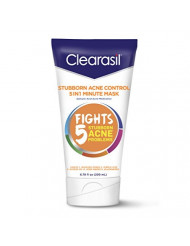 Clearasil Stubborn Acne Control One Minute Mask, 6.78 oz. (Pack of 2)