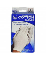 Cara 100% Dermatological Cotton Gloves Small 1 Pair (Pack of 3)