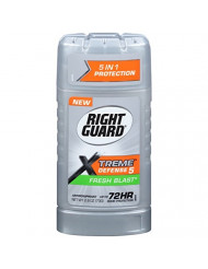 Right Guard Xtreme Defense 5 Anti-Perspirant & Deodorant, Fresh Blast 2.60 oz (Pack of 3)