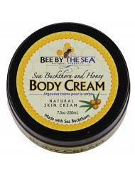 Sea Buckthorn & Honey Body Cream Jar - Naturally Scented With 100% Sweet Almond Oil - 7.5 oz