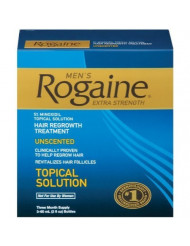 Rogaine for Men Hair Regrowth Treatment, Extra Strength Original Unscented, Set of 3, 2-Ounce Bottles Body Care / Beauty Care / Bodycare / BeautyCare