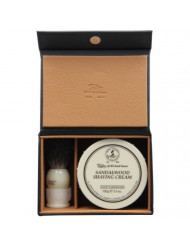 Taylor of Old Bond Street Luxury Shaving Gift Set Box - Sandalwood Shaving Cream & Pure Badger Shaving Brush *NEW*