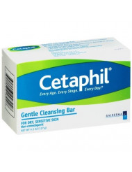 Cetaphil Dry Sensitive Skin Gentle Cleansing Bar, 4.5 Ounces