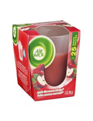 Air Wick Scented Candle Apple Cinnamon Medley, 3 OZ (Pack of 6)