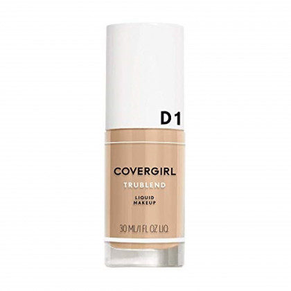 COVERGIRL truBlend Liquid Foundation Makeup Creamy Beige D1, 1 oz (packaging may vary)