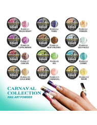 Mia Secret Acrylic Nail Art Powder Carnaval Collection 12 Different Colors