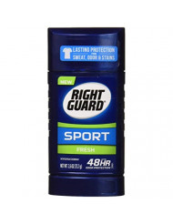 RIGHT GUARD Sport Antiperspirant Up to 48HR, Fresh 2.6 oz (Pack of 2)