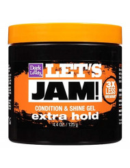 Lets Jam Condition & Shine Gel Extra Hold 4.4 Ounce Jar (130ml) (2 Pack)