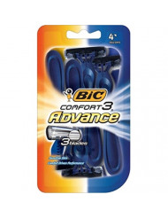 Bic Shaver Mens Comfort 3 Advance (4 Count) (Pack of 6)