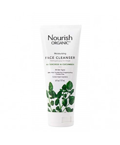 Nourish Organic Moisturizing Face Cleanser, Watercress & Cucumber, 6 Ounce