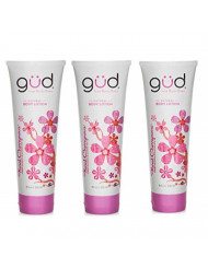 Gud Natural Floral Cherrynova Body Lotion, 8 fz (Pack of 3)