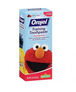 Orajel Toddler Training Toothpaste Berry Fun 1.50 oz (Pack of 6)